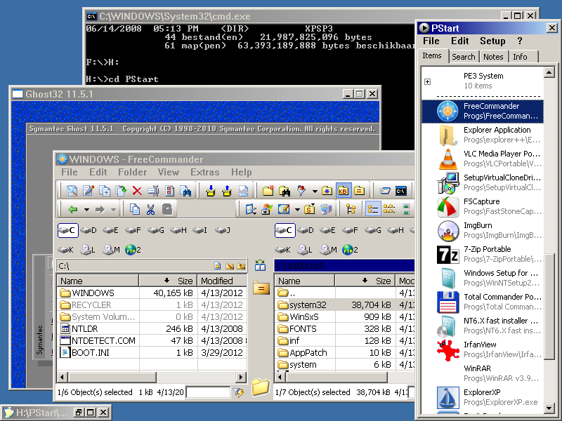 XPSP1 with full commandline and NTFS below 10 MB -> Attachments