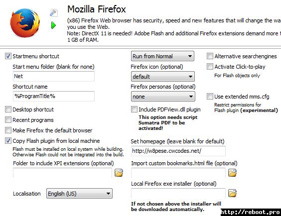 Mozilla Firefox universal - reboot pro