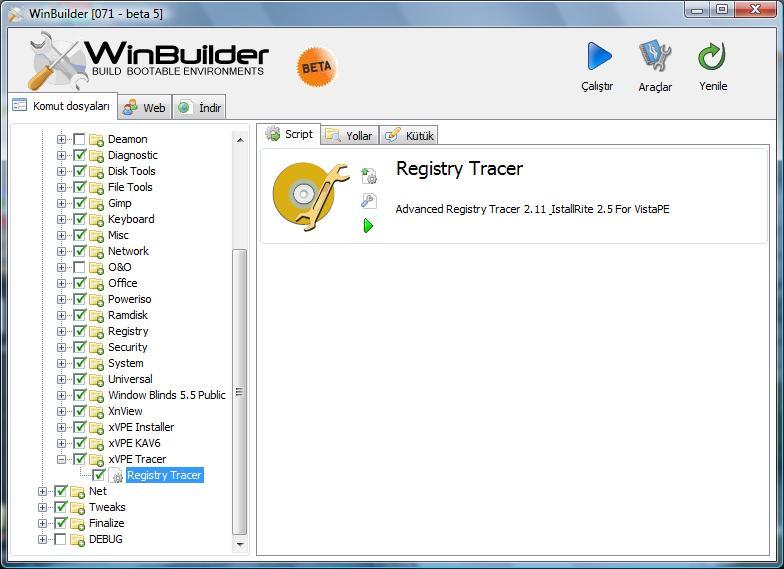 Registry Tracer